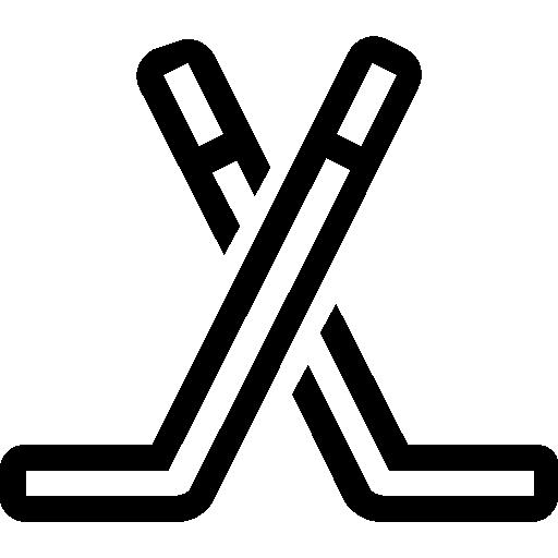 Two Hockey Sticks Outline