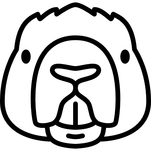 Collection Of Free Head Vector Beaver Download On Ui Ex