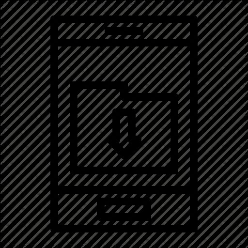 Appliccation, Download Folder, Folder, Mobile Application Icon