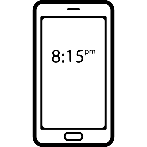 Hour On Mobile Phone Screen Icons Free Download