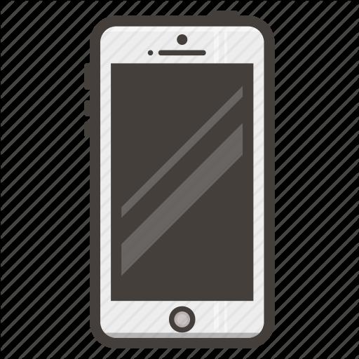 Iphone, Mobile, Phone, Smartphone, White Icon