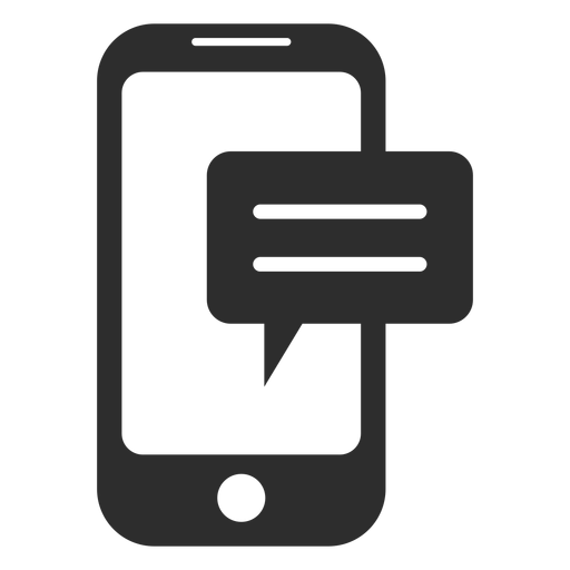 Mobile Messaging Black And White Icon