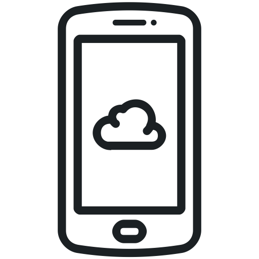 Cloud, Smart Phone Icon, Mobile Icon