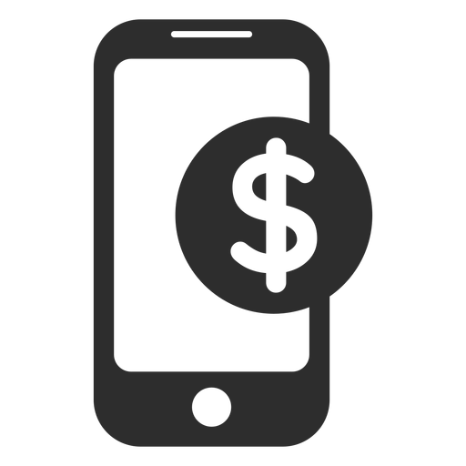 Mobile Payment Black And White Icon