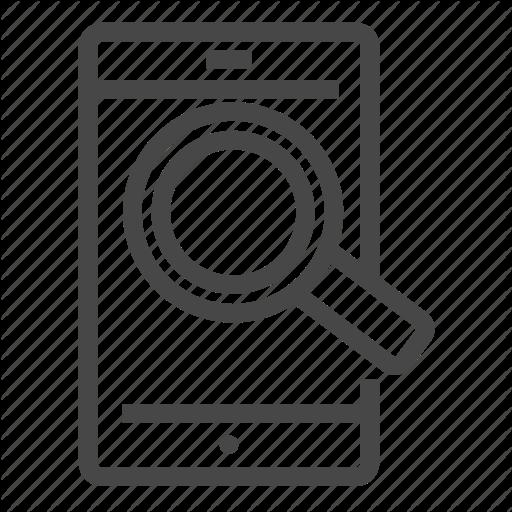 Explore, Mobile, Search Icon