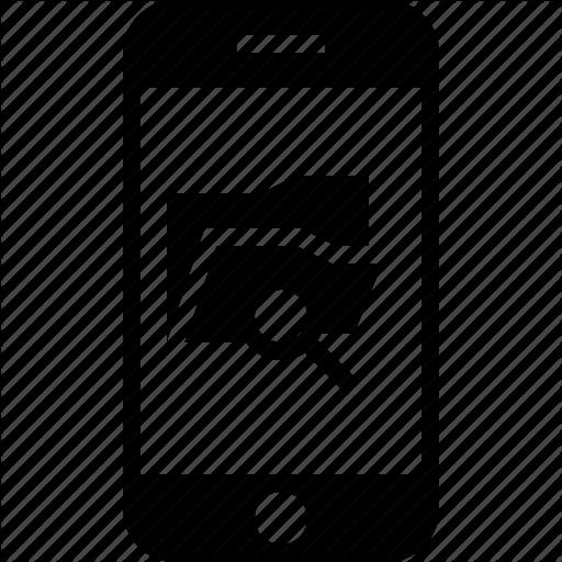 App, Explorer, File, Mobile, Search, Smartphone Icon