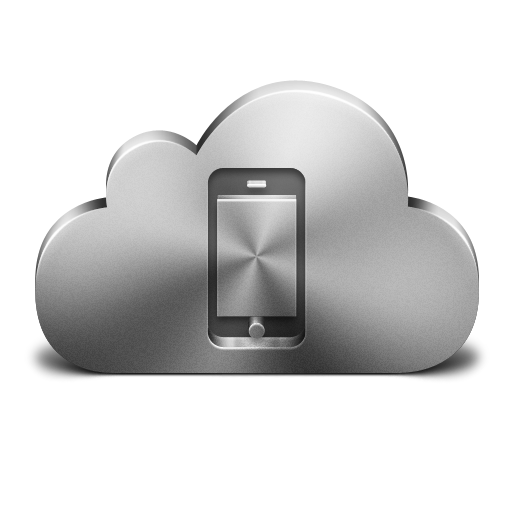Cloud Mobile Device Silver Icon