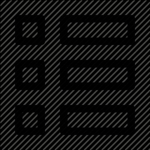 List, List View, Ui, View, View Mode, Web Icon