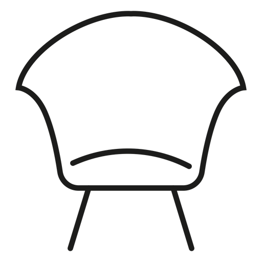 Modern Side Chair Stroke Icon