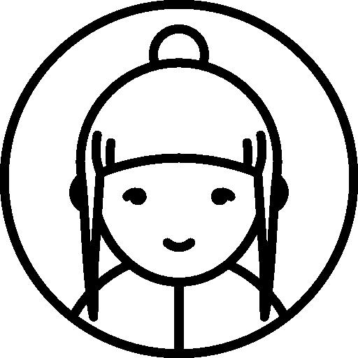 People, User, Woman, Avatar, Mohawk, Femenine, Circle Icon