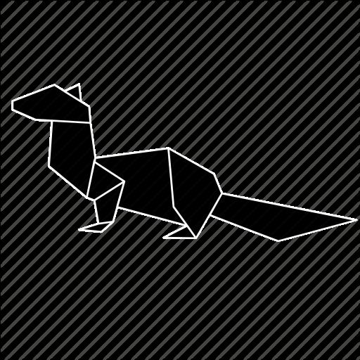 Animals, Mongoose, Origami, Wild Icon