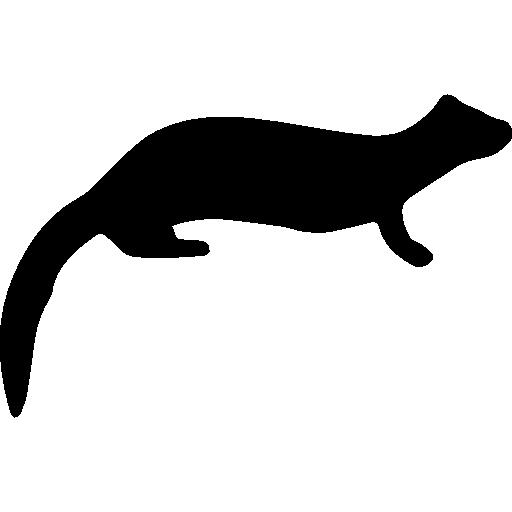 Mammal Ferret Shape Icons Free Download