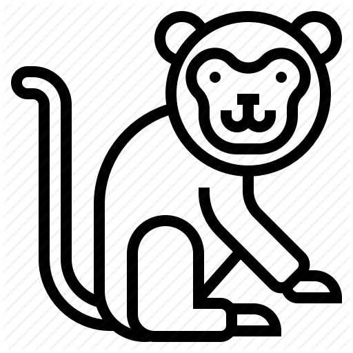 Animal, Monkey Icon