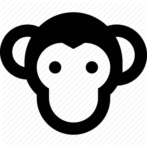 Face, Monkey Icon