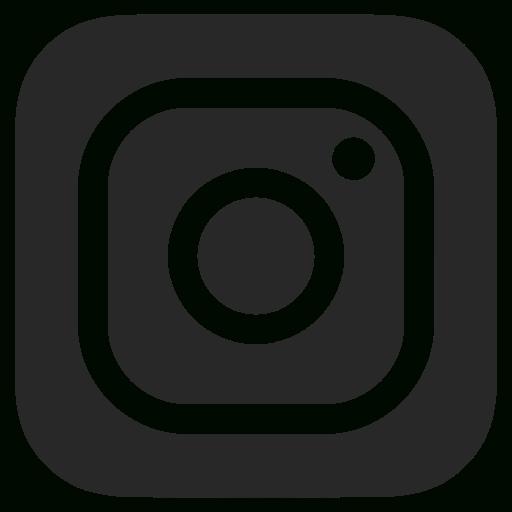 Unique Black And White, Dark Grey, Instagram Icon This Month