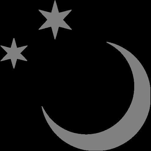 Gray Moon Icon