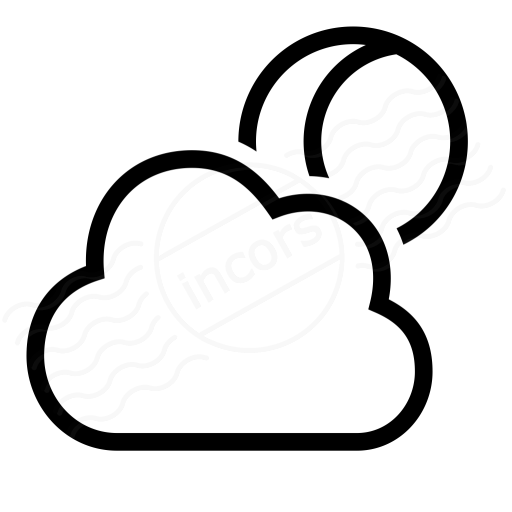 Iconexperience I Collection Cloud Moon Icon