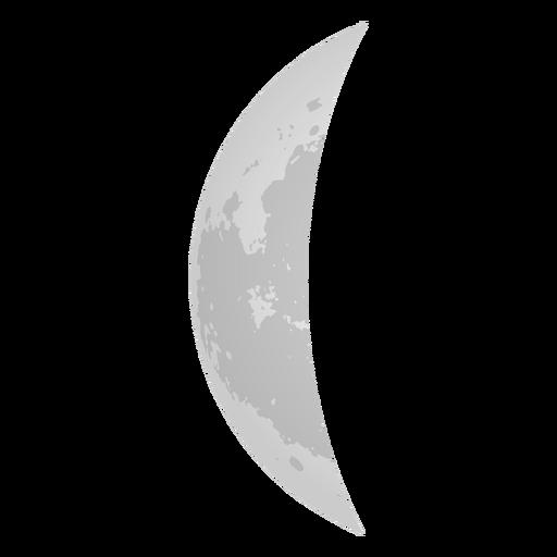 Crescent Moon Realistic Icon
