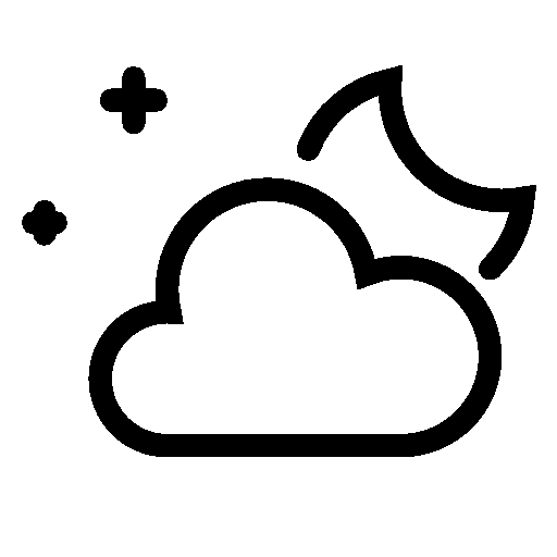 Weather Partly Cloudy Night Icon Ios Iconset