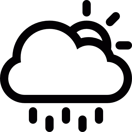 Partly Cloudy Weather Icon Black And White Pics Download