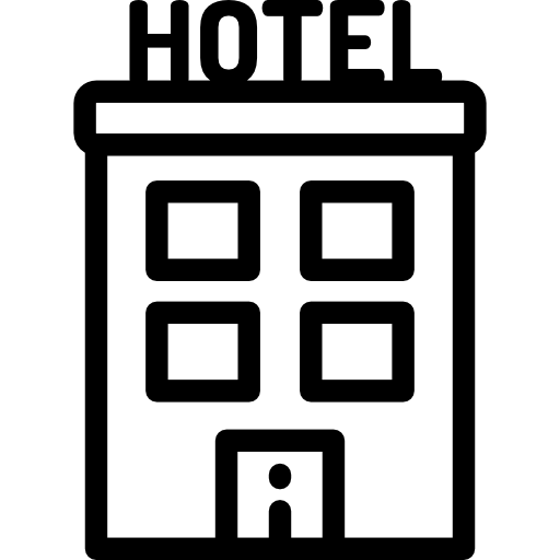 Hostel, Vacation, Holiday, Hotel, Motel, Travel Icon
