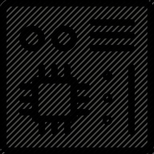 Board, Mainboard, Microchip, Motherboard Icon