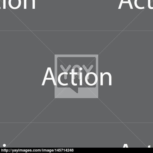 Action Sign Icon Motivation Button With Arrow Seamless Pattern