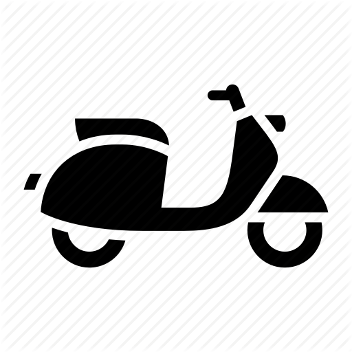 Bike, Delivery, Moped, Motorbike, Motorcycle, Scooter, Vespa Icon