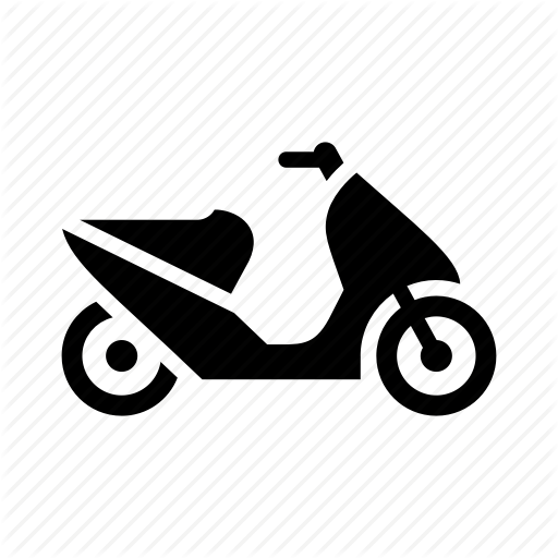 Bike, Delivery, Moped, Motorbike, Motorcycle, Scooter Icon