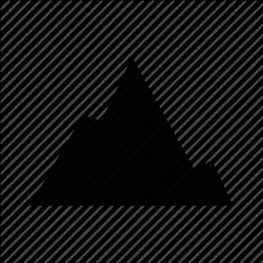 Elevation, Mountain, Peak, Rock, Rugged Icon