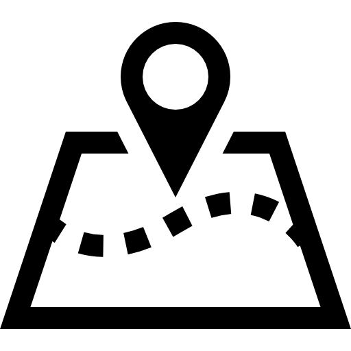 Map Perspective With A Placeholder On It Icons Free Download