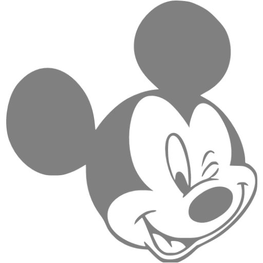 Gray Mickey Mouse Icon