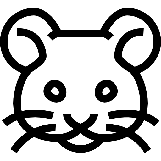 Mouse Frontal Animal Head Outline