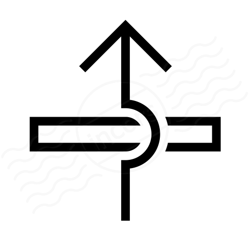 Iconexperience I Collection Arrow Over Icon