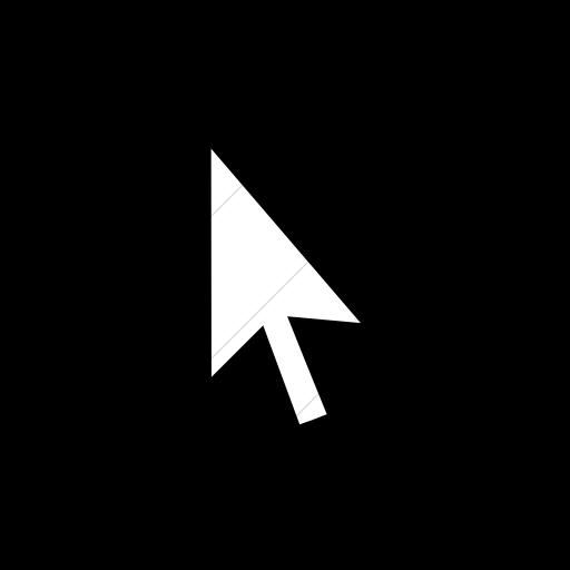 Flat Circle White On Black Classica Mouse Pointer Icon