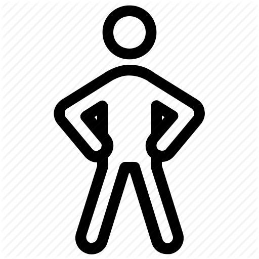 Action, Male, Man Standing, Motion, Movement Icon