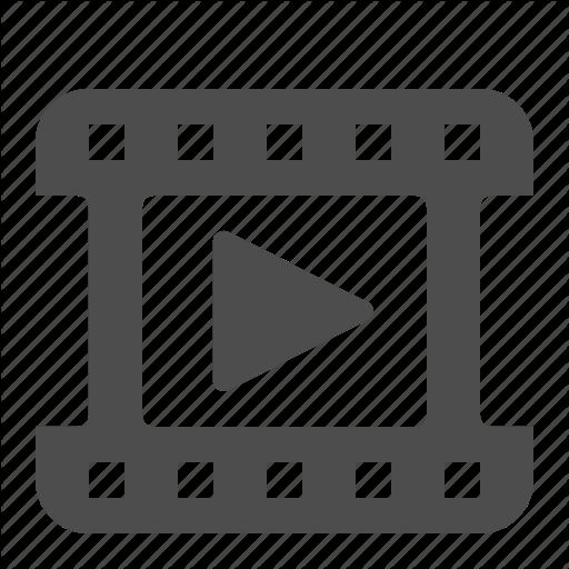 Clip, Film, Movie, Play, Reel, Video Icon