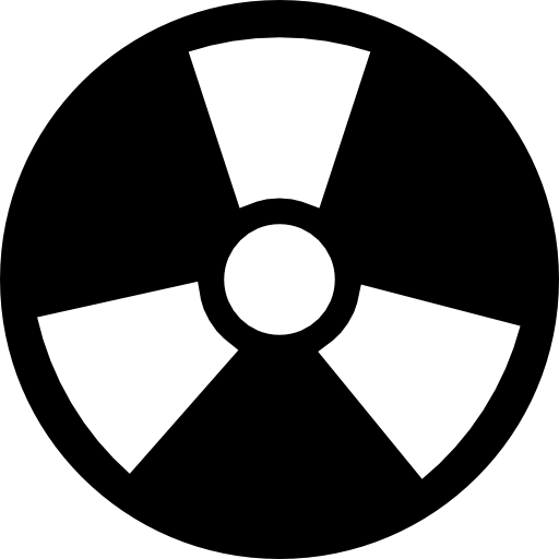 Radiation Circular Symbol With Three Rays Icons Free Download