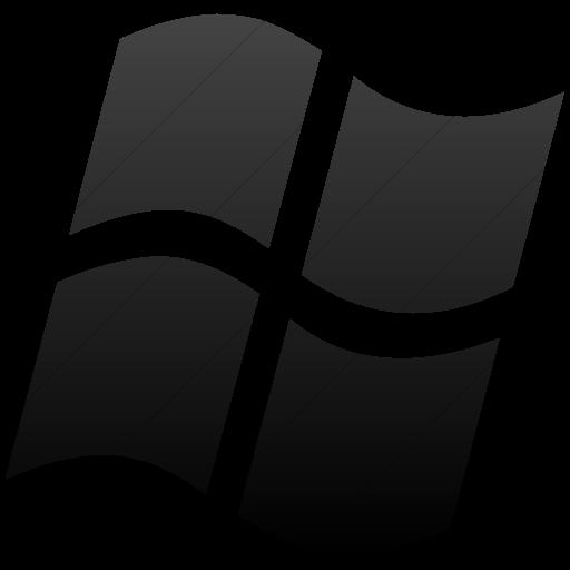 Simple Black Gradient Broccolidry Microsoft Icon