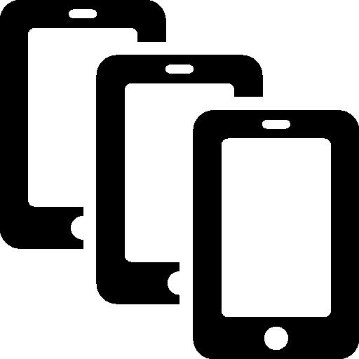 Mobile Multiple Smatphones Icon Windows Iconset