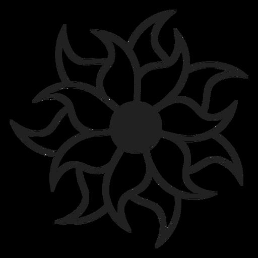 Multi Petal Flower Icon