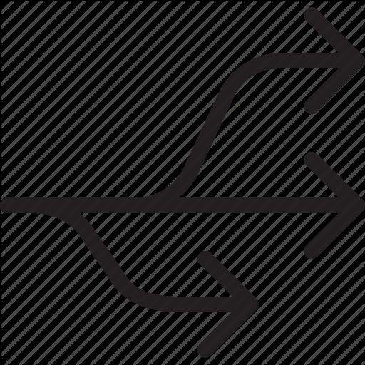 Arrow, Diversion, Hub, Multi, Multi Connect, Network, Usb Icon