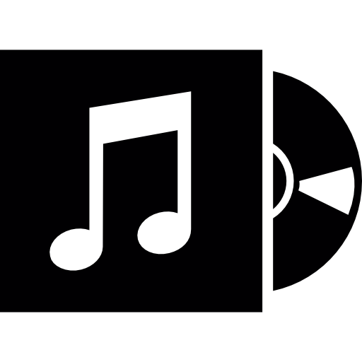 Music Disc With Cover Icons Free Download