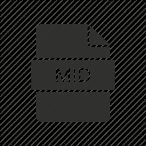 Mid, Mid File, Music, Music Icon