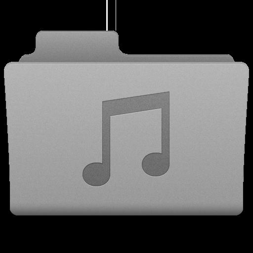 Grey Music Folder Icon