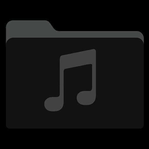 Music Black Folder Icon