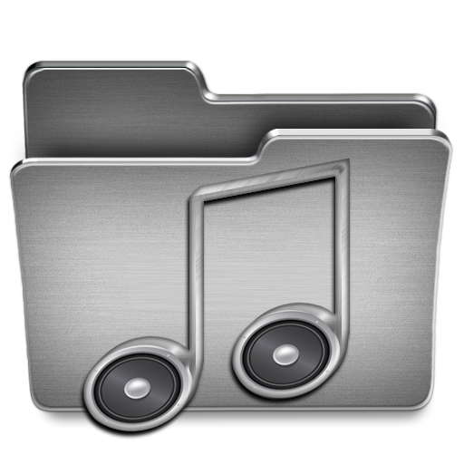 Music, Folder Icon Free Of Steel System Icons