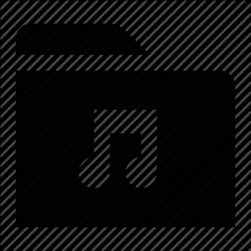 Directory, File, Folder, Folio, Music, Songs, Tunes Icon