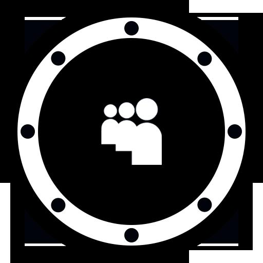 Music Flat Black Icon