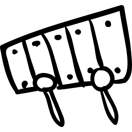 Xylophone Hand Drawn Musical Instrument Icons Free Download